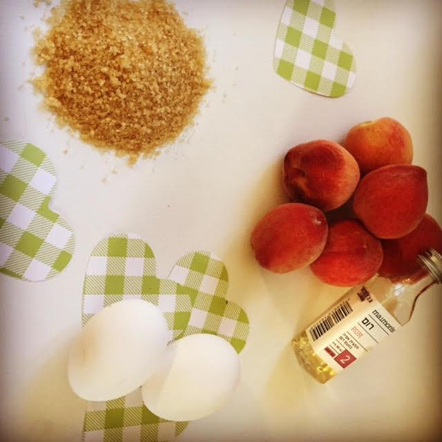 מתכון לעוגת אפרסקים- המצרכים